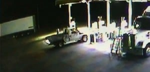 The Stoccos are accused of stealing this white 4WD to continue their run from the law.