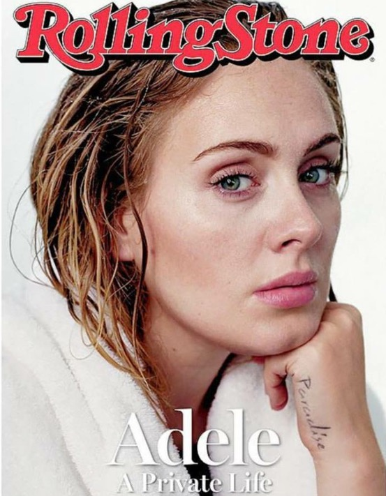 Adele on the cover of Rolling Stone Magazine.
