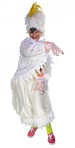 Sue played Corey the Cockatoo in the musical theatre version of her book. Image: Supplied