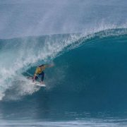 John John Florence in a clean tube.  IMAGE: WSL /  Poullenot
