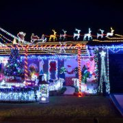 Christmas lights at a Gold Coast house