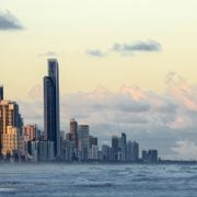 Gold Coast Skyline Storm Sun