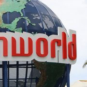 The world globe at Dreamworld on the Gold Coast