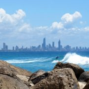 Wave Surf Beach Gold Coast Skyline GC