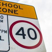 School Zone 40 sign