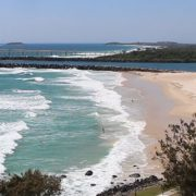 The view from the Tweed Heads lookout over Duranbah