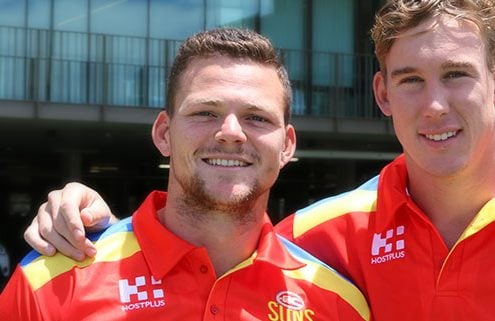Gold Coast Suns Co Captains Steven May and Tom Lynch