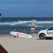 Lifeguards patrolling Broadbeach on the Gold Coast