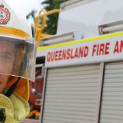 Queensland fire and emergency services Firefighter Brenton Mazey in his uniform