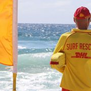 A Surf Rescue Lifesaver on Main Beach on the Gold Coast