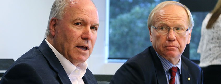 Commonwealth Games CEO Mark Peters and Chairman Peter Beattie