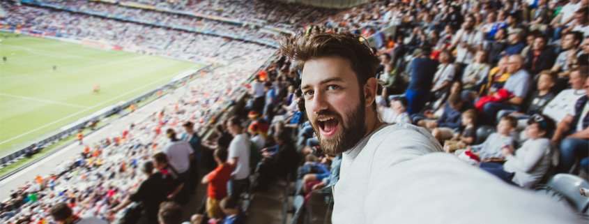 Excited Sports Crowd Member