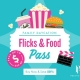 Pacific Fair - Flicks & Food Offer August 2020
