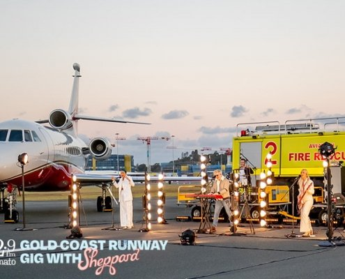 HT's Gold Coast Runway Gig with Sheppard